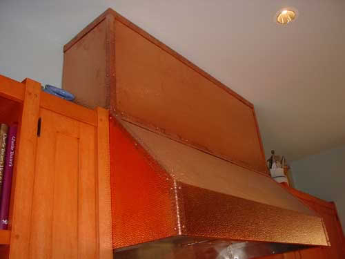 Hammered Copper Kitchen Hood - Image 0